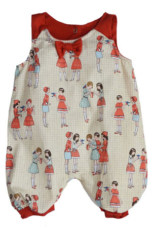 The Peggie Baby Onesie by Shirley & Victor by Shirley and Victor, Baby by Majamas