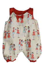 The Peggie Baby Onesie by Shirley & Victor (Schoolyard Print) by Shirley and Victor, Baby by Majamas