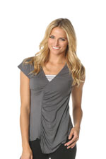 Majamas Melbourne Nursing Top (Gunmetal with Stripes Tube) by Majamas