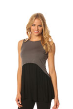 Majamas Strato Nursing Tank (Gunmetal with Black) by Majamas