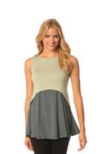 Majamas Strato Nursing Tank (Lily with Gunmetal) by Majamas