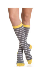 Vim & Vigr Graduated Compression Socks - Nylon Collection (Grey, White & Yellow) by Vim & Vigr