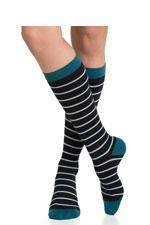 Vim & Vigr Graduated Compression Socks - Nylon Collection (Mint, Black & Turquoise) by Vim & Vigr