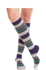 Vim & Vigr Graduated Compression Socks - Nylon Collection (Purple & Grey) by Vim & Vigr