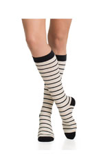 Vim & Vigr Graduated Compression Socks - Nylon Collection (Cream & Black) by Vim & Vigr