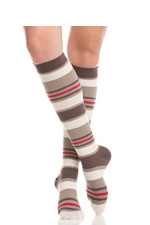 Vim & Vigr Graduated Compression Socks - Nylon Collection (Brown & Blush) by Vim & Vigr