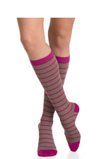 Vim & Vigr Graduated Compression Socks - Nylon Collection (Light Brown & Fuchsia) by Vim & Vigr