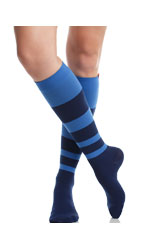 Vim & Vigr Graduated Compression Socks - Nylon Collection (Navy & Cobalt) by Vim & Vigr