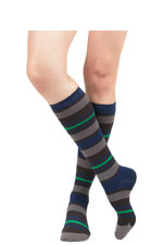 Vim & Vigr Graduated Compression Socks - Nylon Collection (Blue & Grey) by Vim & Vigr