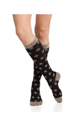 Vim & Vigr Graduated Compression Socks - Cotton Collection (Black & Light Brown Dots) by Vim & Vigr