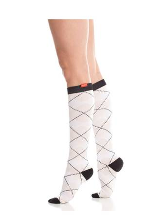 Vim & Vigr Graduated Compression Socks - Cotton Collection (White & Blush) by Vim & Vigr