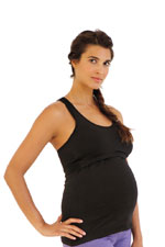 Belabumbum Active Racerback Nursing Sports Tank (Black) by Belabumbum