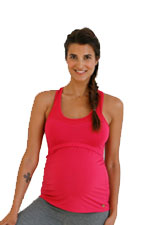 Belabumbum Active Racerback Nursing Sports Tank (Fuschia) by Belabumbum