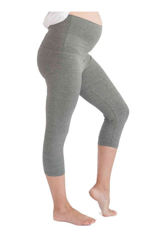 Belabumbum Convertible Capri Active Maternity Pants (Grey) by Belabumbum