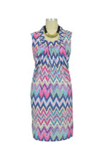 Anya Nursing Dress (Pink & Purple Print) by Loyal Hana