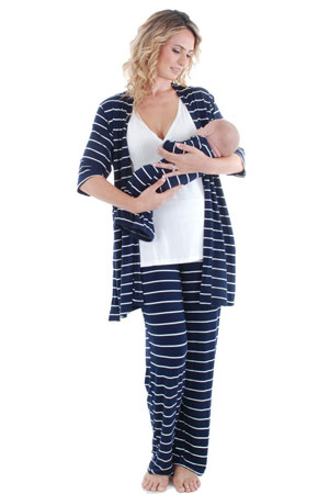 Cindy 4-pc. Nursing PJ Set with Gift Bag by Everly Grey