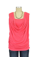 Allison Drape Nursing Top (Coral) by Everly Grey