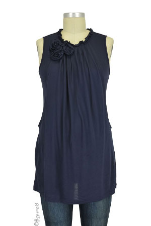 Clarice Rosette Nursing Tunic (Navy) by Annee Matthew