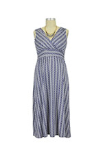 Cora Chevron Nursing Dress (Navy Print) by Annee Matthew