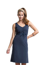 Boob Designs Giselle Organic Nursing Dress (Ink Blue) by Boob
