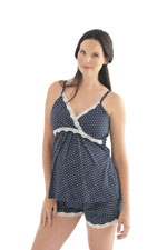 Belabumbum Dottie Nursing Cami & Short Set (Navy Dot) by Belabumbum