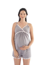 Belabumbum Dottie Nursing Cami & Short Set (Grey Dot) by Belabumbum