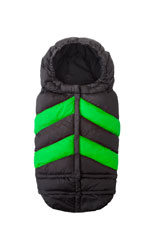 7 AM Enfant Blanket 212 Evolution Chevron (Black/Neon Green) by 7 A.M. Enfant