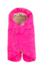 7 AM Enfant Nido Quilted Car-seat Baby Wrap - Small (Neon Pink) by 7 A.M. Enfant