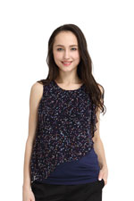 Spring Maternity Diana Nursing Top (Navy Print) by Spring Maternity
