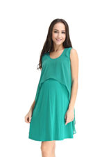 Spring Maternity Fay Layer Nursing Dress (Jade) by Spring Maternity