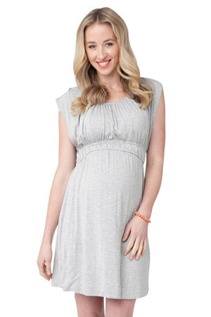 The Louis Nursing Dress (Silver Marle) by Ripe Maternity