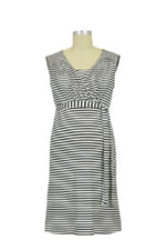 Rita Striped Nursing Dress (Charcoal Stripe) by Noppies