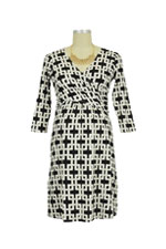 Briana Nursing Dress (Black & White Chain Link) by Dote
