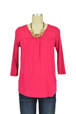 Fiona Nursing Top - 3/4 Sleeve (Raspberry) by Dote