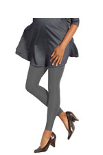 Preggers Gradient Compression Maternity Leggings (Coal) by Preggers Maternity Hosiery