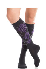 Vim & Vigr Graduated Compression Socks - Wool Collection (Black & Purple) by Vim & Vigr