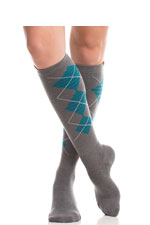 Vim & Vigr Graduated Compression Socks - Wool Collection (Charcoal & Cobalt-Green) by Vim & Vigr