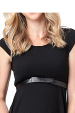 Flat Bow Belt (Black) by Ripe Maternity