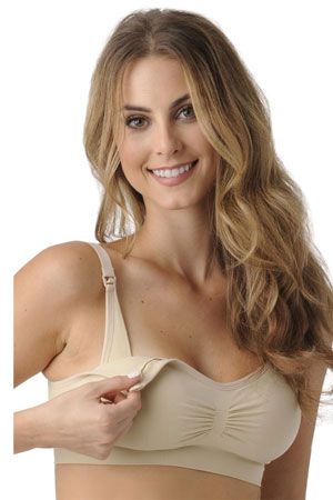 Bandita Nursing Bra with Removable Padding by Belly Bandit (Nude) by Belly Bandit