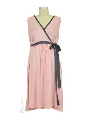 The BG Birthinggown (with Pockets) (Blush) by B&G Birthingown