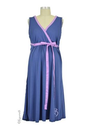 The BG Birthinggown (with Pockets) (Blueberry Pie) by B&G Birthingown