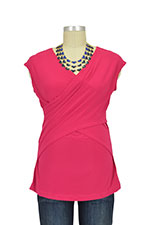 Luxe Jersey Sleeveless Cross Front Nursing Top (Rose) by Japanese Weekend