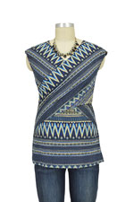 Luxe Jersey Sleeveless Cross Front Nursing Top (Ethnic Print) by Japanese Weekend