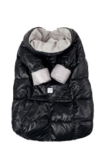 7 am Enfant Quilted Easy Cover (Small: 12m-3y) (Black/Grey) by 7 A.M. Enfant
