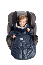 7 am Enfant Quilted Easy Cover (Small: 12m-3y) (Midnight Blue/Grey) by 7 A.M. Enfant