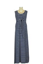 Brooklyn Stripes Maxi Nursing Dress (Navy Stripes) by JoJo Maman BeBe
