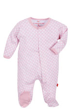 Magnificent Baby Girl's Footie (Pink Diamonds) by Magnificent Baby