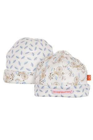 Magnificent Baby Reversible Baby Boy Cap- Lion & the Mouse (Blue) by Magnificent Baby