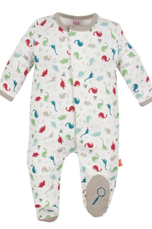 Magnificent Baby Magnetic Me™ Boy's Footie- Dino Expedition by Magnificent Baby