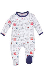 Magnificent Baby Boy's Footie- On the Go (Tally Ho) by Magnificent Baby